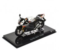 1:24 мотоцикл APRILIA RSV 1000R Black/Silver