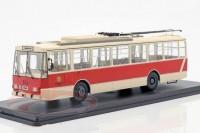 1:43 троллейбус SKODA 14TR Potsdam 1981 Beige/Red