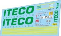 1:43 набор декалей Камский грузовик iteco (тягач+прицеп) (Зеленый)
