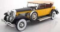 1:12 DUESENBERG Model SJ Tourster Derham 1932 Yellow/Black