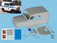 1:43 УАЗ 31512 Милиция Москва ТрансКит для моделей IST