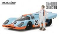 """1:43 PORSCHE 917K #20 """"Gulf Oil"""" с фигуркой Steve McQueen 1970"""