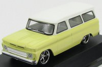 1:43 CHEVROLET Suburban 1966 Yellow with White Roof