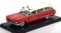 1:43 BUICK Flxible Premier Ambulance (скорая медицинская помощь) 1960 Red/White