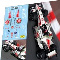1:43 набор декалей Formula 1 №33 - Honda RA106 - Дженсон Баттон (2006)