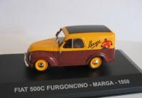 """1:43 FIAT 500 C FURGONCINO """"MARGA"""" 1950 Yellow/Brown"""
