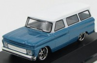 1:43 CHEVROLET Suburban 1966 Blue with White Roof