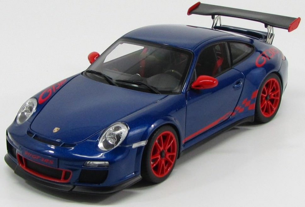 1:18 Porsche 911 (997) GT3 RS 3 8 2010 (blue with red stripes)