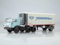 "1:43 КАМский грузовик-54112 с полуприцепом Alka-N13CH ""Главмежавтотранс"""