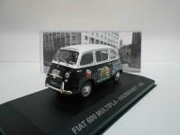 "1:43 FIAT 600 MULTIPLA ""HAUSBRANDT"" 1956 Black/White"