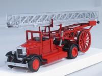 1:43 ЗИС-5 МЕТЦ Пожарная съемная механическая лестница с открытой кабиной