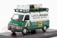 "1:43 FIAT 242 техничка ""Lancia Alitalia"" с багажником на крыше 1974 White/Green"
