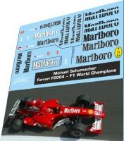 1:43 набор декалей Formula 1 №25 Ferrari F2004