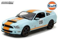 "1:18 FORD MUSTANG Shelby GT500 ""Gulf"" 2012 Light Blue with Orange Stripes"