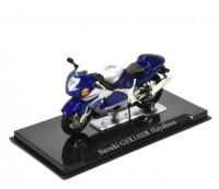 1:24 мотоцикл SUKUZI GSX1300R Hayabusa Blue/Silver