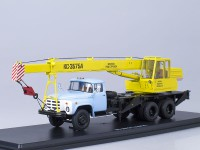 1:43 Автокран КС-3575А (133ГЯ), (желтый/голубой)