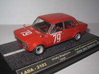 "1:43 LADA-2103 Vitaly Bogatyrev Cup of peace and friendship Minsk ring ""Borovaya"" 1975"