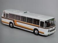 1:43 ЛАЗ-699Р Турист белый с цветными полосами