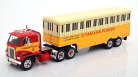 "1:43 INTERNATIONAL Harvester DCOF-405 с полуприцепом ""Yamaha Pianos"" 1959 Red/Yellow"