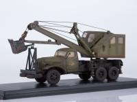 1:43 Автомобильный экскаватор-кран ДКА-0,25/5 на шасси ЗИС-151 (со следами эксплуатации)