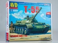 1:43 Сборная модель Средний танк Т-55