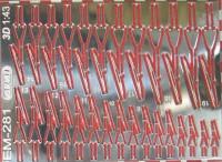 1:43 Фототравление Стеклоочистители 3D (вариант 1)