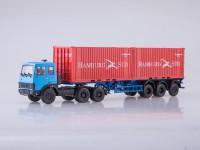 1:43 Набор МАЗ-6422 (синий) + полуприцеп МАЗ-938920
