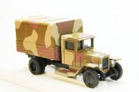 1:43 Уральский грузовик ЗИС-5В Военный грузовик с тентом (камуфляж)