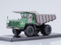 1:43 БЕЛАЗ-540А карьерный самосвал (зелёный/серый)
