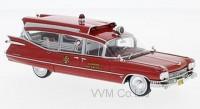 1:43 CADILLAC S&S Superior Rescuer Ambulance (скорая медицинская помощь) 1959 Red