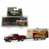 1:64 FORD F-150 пикап с прицепом Indian Motorcycle Enclosed Car Hauler 2017