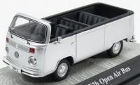 1:43 VOLKSWAGEN T2b Open Air Bus 1973 Silver