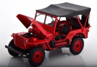 1:18 JEEP Willis 4x4 с тентом 1942 Red