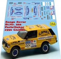 1:43 набор декалей Range Rover Camel rally dakar 1990