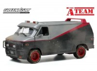 """1:24 GMC Vandura (фургон) 1983 с пулевыми повреждениями (из телесериала """"Команда А"""")"""