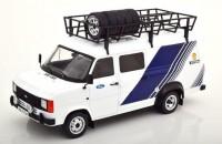 "1:18 FORD Transit MKII техничка ""Team Ford"" с багажником и колесами на крыше 1979"