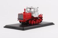 1:43 Трактор Т-150 гусеничный (красный/белый)