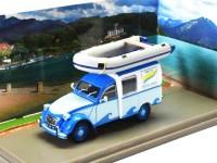 1:43 CITROEN 2CV AKS 400 c надувной лодкой 1965 Blue/Light Blue