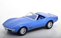 1:18 CHEVROLET Corvette Convertible C3 1969 Blue Metallic