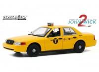 "1:24 FORD Crown Victoria ""NYC Taxi"" (такси Нью-Йорка) 2008 (из к/ф ""Джон Уик II"")"