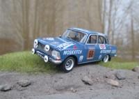 1:43 MOSKVITCH - 412 Kastytis Girdauskas / Uldis Madrevic, USSR. WRC Rally 1000 Lakes Finland 1972