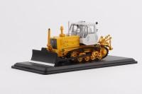 1:43 Трактор Т-150 гусеничный с отвалом (желтый/белый)