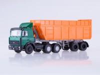 1:43 МАЗ-6422 с самосвальным полуприцепом МАЗ-9506-30 (зелёный/оранжевый)