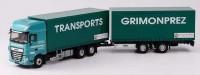 "1:43 DAF XF 530 грузовик с прицепом ""TRANSPORTS GRIMONPREZ"" 2017"