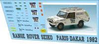 1:43 набор декалей Range rover SEIKo dakar 1982