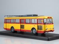 1:43 Троллейбус Skoda-9TR (красно-жёлтый)