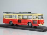 1:43 Троллейбус Skoda-9TR (красно-бежевый)