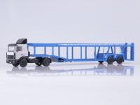 1:43 МАЗ-5432 с полуприцепом-автовозом 934410 (А908)