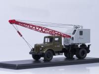 1:43 Автокран К-51 (МАЗ-200), зеленый/серый