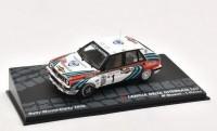 1:43 LANCIA Delta Integrale 16V #1 Biasion/Siviero 3 место Rally Monte-Carlo 1990